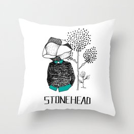 StoneHead Throw Pillow