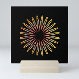 Colorful Christmas snowflake Mini Art Print