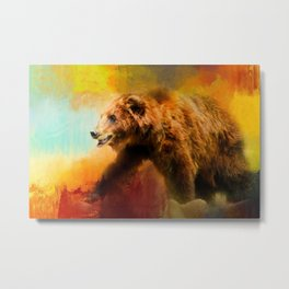 Colorful Expressions Grizzly Bear Metal Print