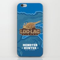 monster hunter iPhone & iPod Skins featuring Monster Hunter All Stars - Loc-Lac Riders by Bleached ink