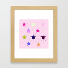 Star Bursts Framed Art Print