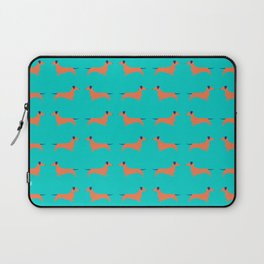 Teal Dachshund Laptop Sleeve