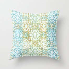 Batik Scroll Throw Pillow