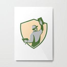 Plasterer Masonry Trowel Shield Retro Metal Print