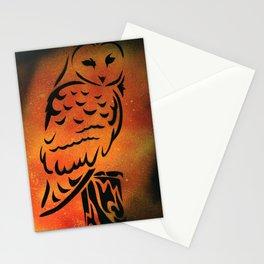 Orange Owl Stationery Cards