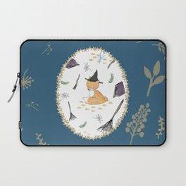 Blue Magical Fox Laptop Sleeve