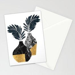 Gold + Marble Floral Vase Stationery Cards