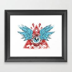 Pyramid Eye Framed Art Print