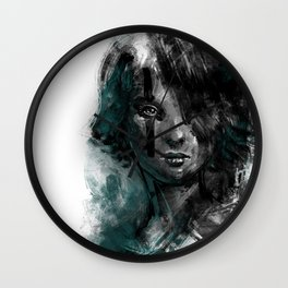 Ink and Color girl Wall Clock