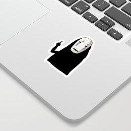 No Face and a Bird Sticker
