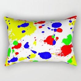 Colorful Paint Splatter. Rectangular Pillow