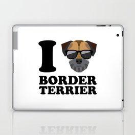 I Love Border Terrier modern v1 Laptop & iPad Skin