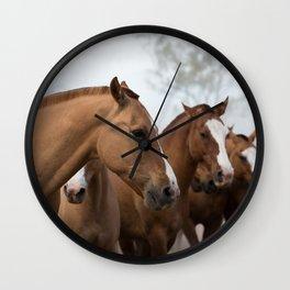 Estancia Horses Wall Clock