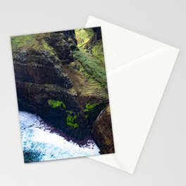 Coastal Cliffs Hawaiian Tropical Beach Stationery Cards