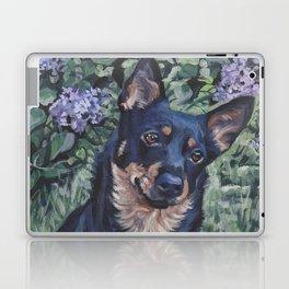 Lancashire Heeler dog art portrait from an original painting by L.A.Shepard Laptop & iPad Skin