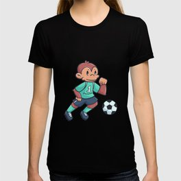 Monkey Football Sports Game Gift T-shirt