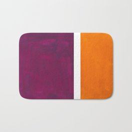Purple Wine Yellow OchreMid Century Modern Abstract Minimalist Rothko Color Field Squares Bath Mat