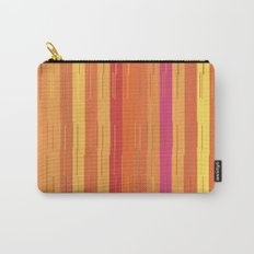 Orange and Yellow Stripes and Lines Abstract Carry-All Pouch