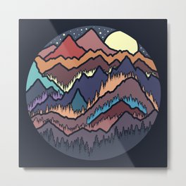 Mountains Colors Metal Print