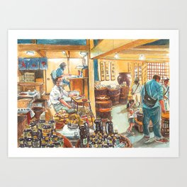 Japan series: Shoyu shop in Takayama Art Print