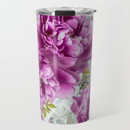 Summer bouquet of purple and white flowers - #Society6 #buyart Travel Mug