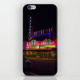 Night Lights Fremont Theater, San Luis Obispo, California iPhone Skin