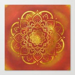 Mandala fire gold By Sonia H. Canvas Print
