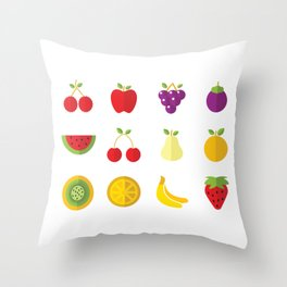 One Fruit A Day Keeps The Doctor Away Throw Pillow