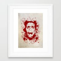 psycho Framed Art Prints featuring American Psycho by David