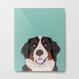 Bernese Mountain Dog pet portrait dog art illustration fur baby dog breed unique gift for dog lover  Metal Print