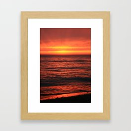 Warm reception on a cold morning. Framed Art Print