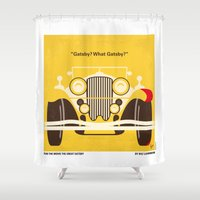 fitzgerald Shower Curtains featuring No206 My The Great Gatsby minimal movie poster by Chungkong