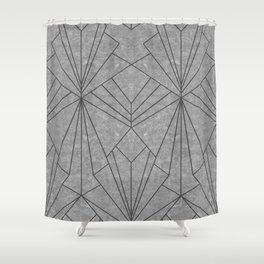 Art Deco in Black & Grey - Large Scale Shower Curtain