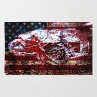 american Area & Throw Rugs featuring American Barn by BeachStudio