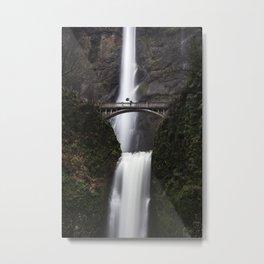 Multnomah Falls, umbrella Metal Print