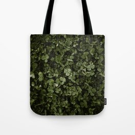 Clover with Rain Drops Tote Bag