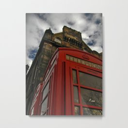 Telephone Box, Edinburgh Metal Print