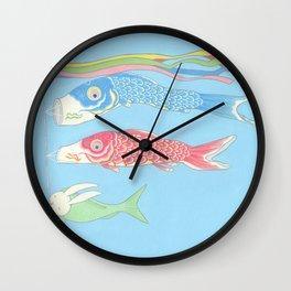 Usagikoinobori Wall Clock