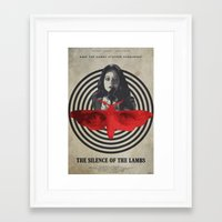 silence of the lambs Framed Art Prints featuring Fava Beans - The Silence of the Lambs by Edward J. Moran II