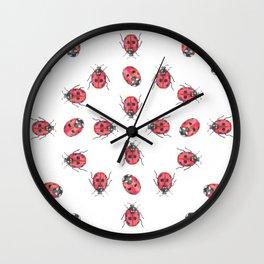 Ladybirds (aka Ladybugs) Wall Clock