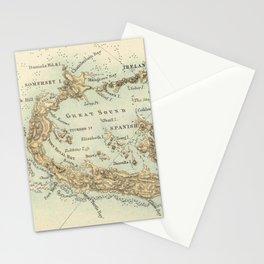 Vintage Map of Bermuda (1872) Stationery Cards