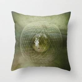 Caged World Throw Pillow