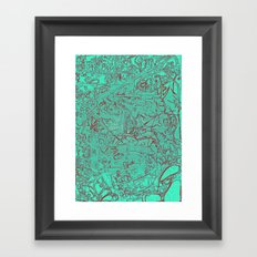 Aumcolored Framed Art Print