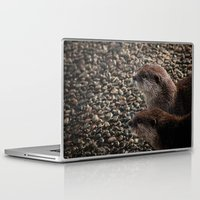 otters Laptop & iPad Skins featuring Pair of Otters by Eleven Collective