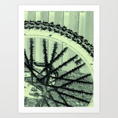 Winter spoke its intentions... Art Print