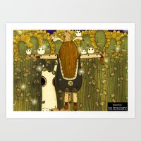 catcher in the rye Art Prints featuring Catcher in the Rye by Yoyo the Ricecorpse