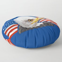 Patriotic Eagle 4th of July American Flag Floor Pillow