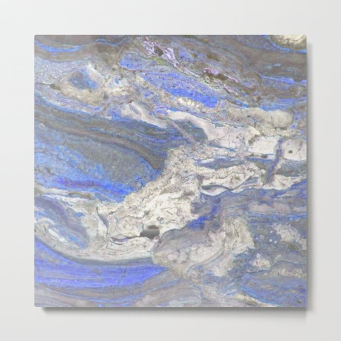 Arabescato-Orobico-Blue-Marble Metal Print