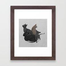 Gang of cats Framed Art Print