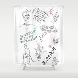 boredom doodles Shower Curtain